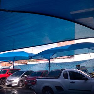 Tela de sombreamento para estacionamento